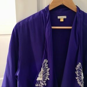 Anthropologie Indigo Kimono Blazer
